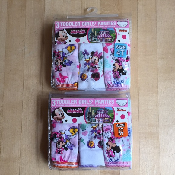 709996be582 Minnie Mouse Toddler Girls Panties 2T 3T and 4T